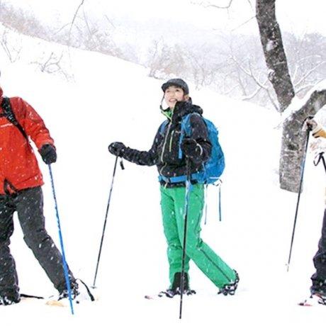 心と体をデトックス スノーシューde新雪トレッキング